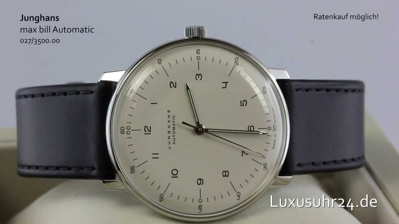 Max Bill Automatic Junghans Max Bill Automatic 027 3500 00 Luxusuhr24 Ratenkauf Ab 20 Euro Monat