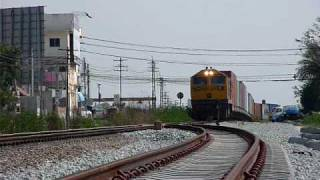 Freight Train No.864 Passing KM.129 Ban Plutoluang Route.