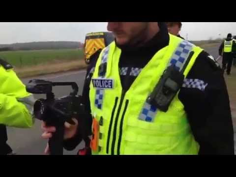 Kiln Lane Fracking Site! 2 Violent Arrests Arrested During Lock on 23/3/15