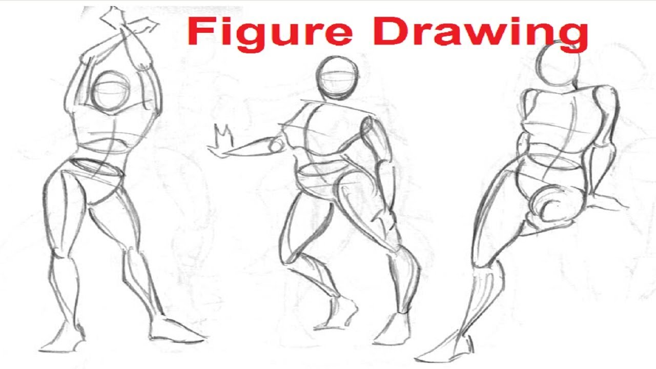 Figure Drawing Lessons 1/8 - Secret To Drawing The Human Figure ...