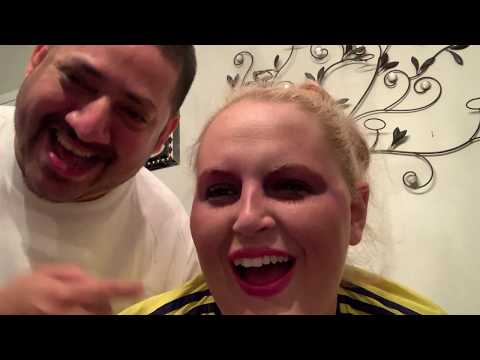 Andre does my #make-up #husbanddosemakeup #lol #funny