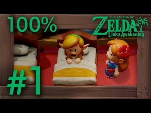 Zelda Link's Awakening (Switch): 100% Walkthrough Part 1 - Intro & Mysterious Forest