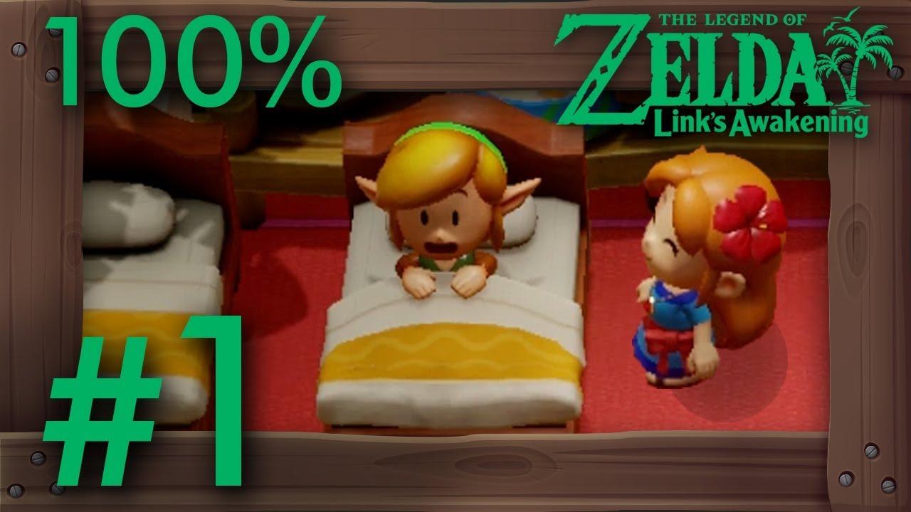 Zelda Link's Awakening (Switch): 100% Walkthrough Part 1 - Intro & Mysterious Forest thumbnail