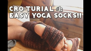 Cro-Turial #1| Super Easy Yoga Socks