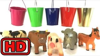Kid -Kids -Farm Animals Toys Paint And Wash - Learn Colors With Buckets And Paint/Zoo Animals Toy L