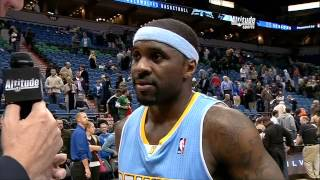Denver Nuggets PG Ty Lawson After Win at Minnesota Timberwolves