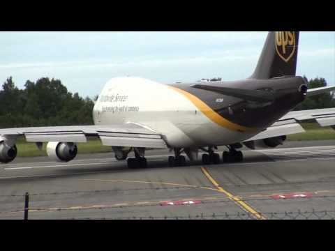 UPS 747-400F Takeoff From Anchorage  Airport