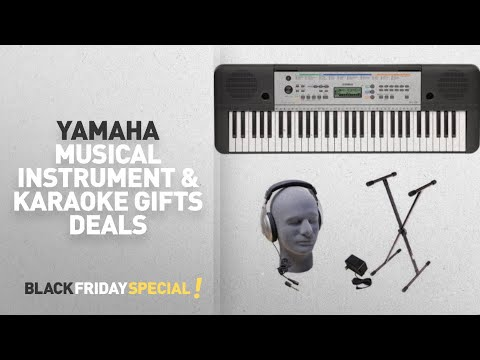 Walmart Top Black Friday Yamaha Musical Instrument & Karaoke Gifts Deals: Yamaha YPT-255 61-Key