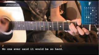 "Cómo tocar ""The Scientist"" de Coldplay en Guitarra (HD) Tutorial - Christianvib"