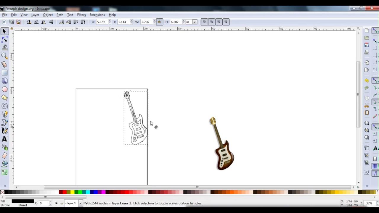 inkscape guitar template tutorial murph squire left handed guitar