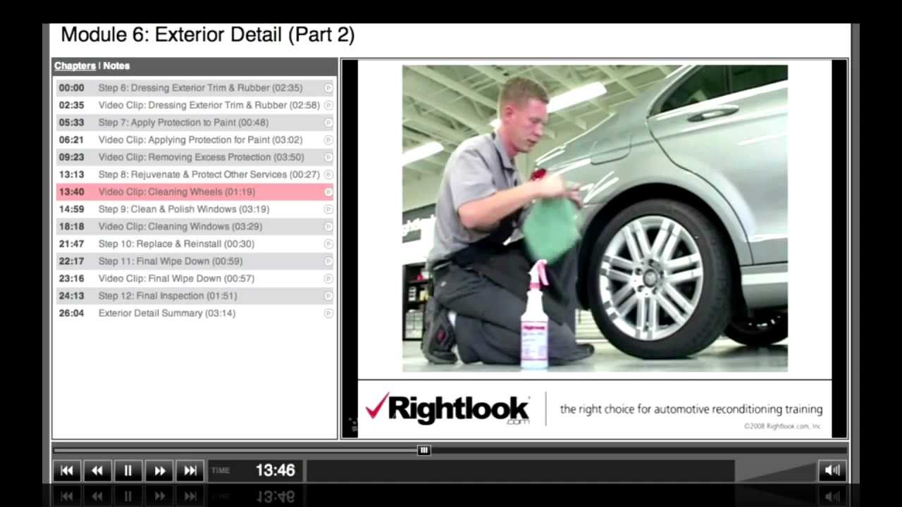 Online Master Auto Detailing Video Course From Rightlook Youtube