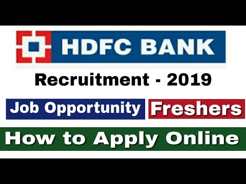 HDFC Bank Recruitment 2019 II Private Bank Job 2019 II How to Apply Online II Learn Technical