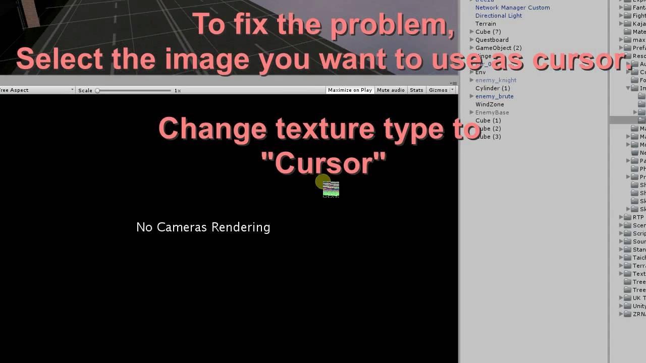 Unity set cursor texture