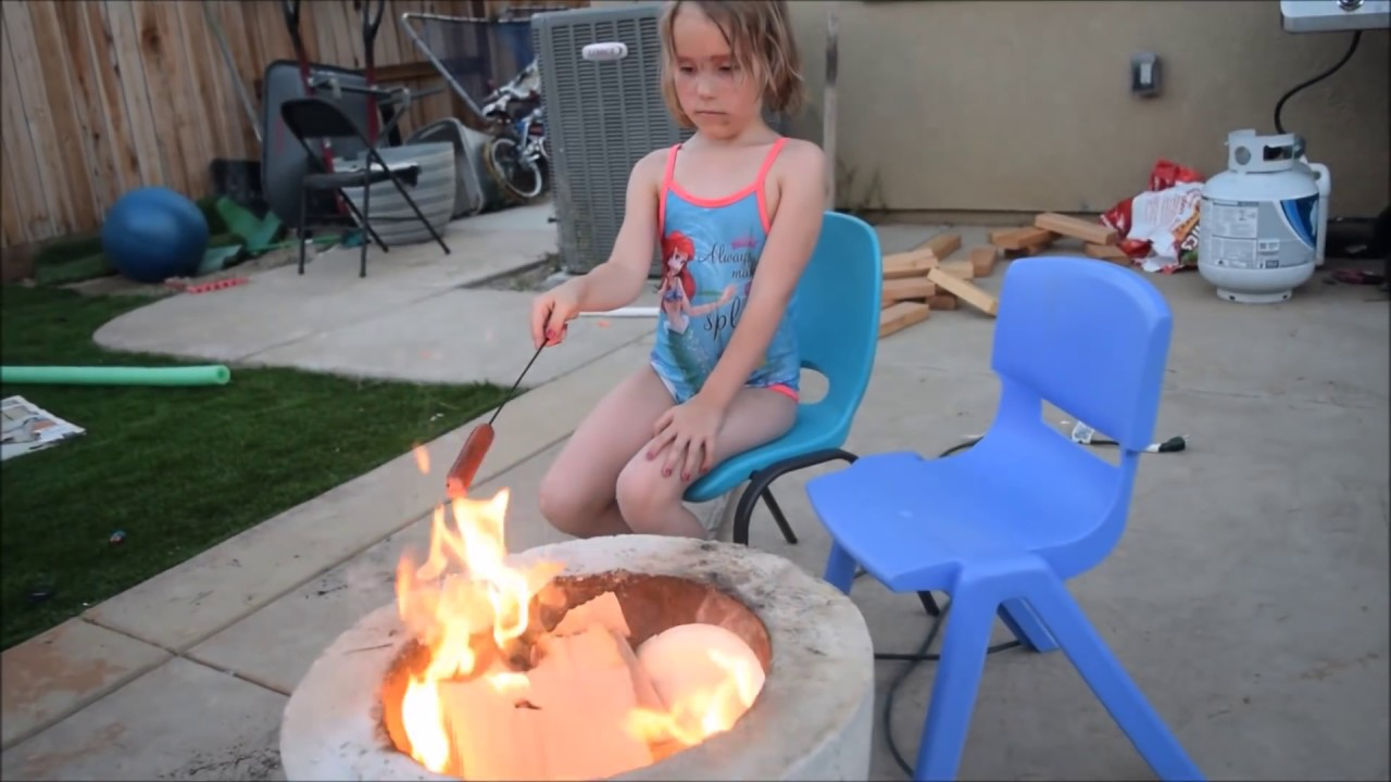 DIY Homemade Concrete Fire Bowl! - YouTube