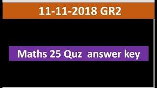 Group 2 maths 25 quz answer key