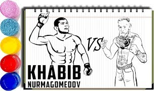 How to Draw Khabib Nurmagomedov vs Conor McGregor after Khabib
