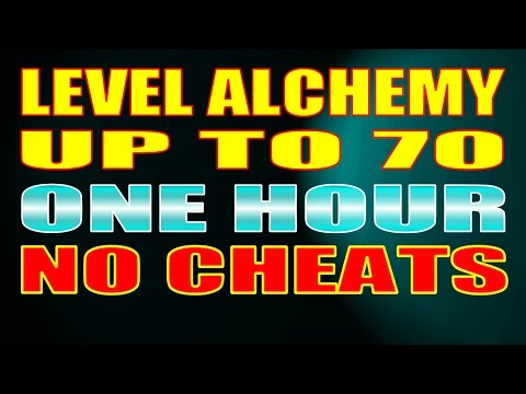 Skyrim SE - Power Level Alchemy to 70 in ONE HOUR - No Cheats, Exploits or Pickpocketing