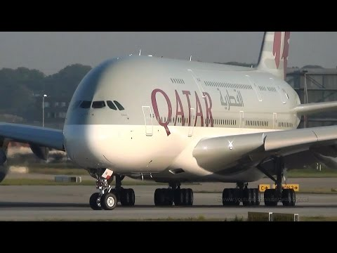 [DELIVERY] First Qatar Airways A380 A7-APA takeoff at Hamburg Airbus Plant