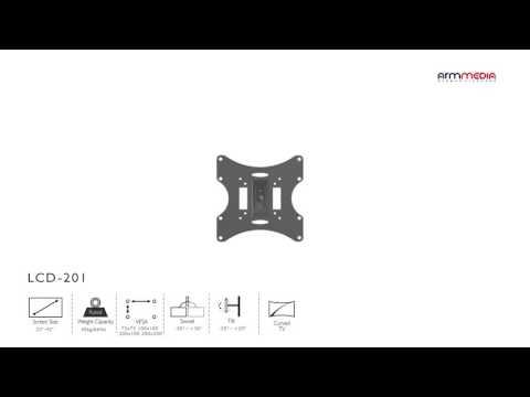 видео: Настенный кронштейн для led/lcd телевизоров arm media lcd-201