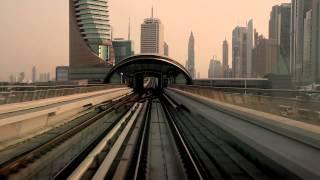 train moving in city scape
