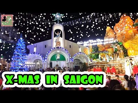 Christmas in Vietnam. Xmas in Saigon. New Year 2017