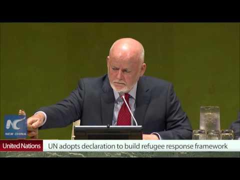 UN summit adopts declaration to build refugee response framework