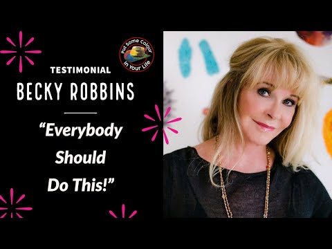 Testimonial - Becky Robbins talks about her experience on Colour In Your Life