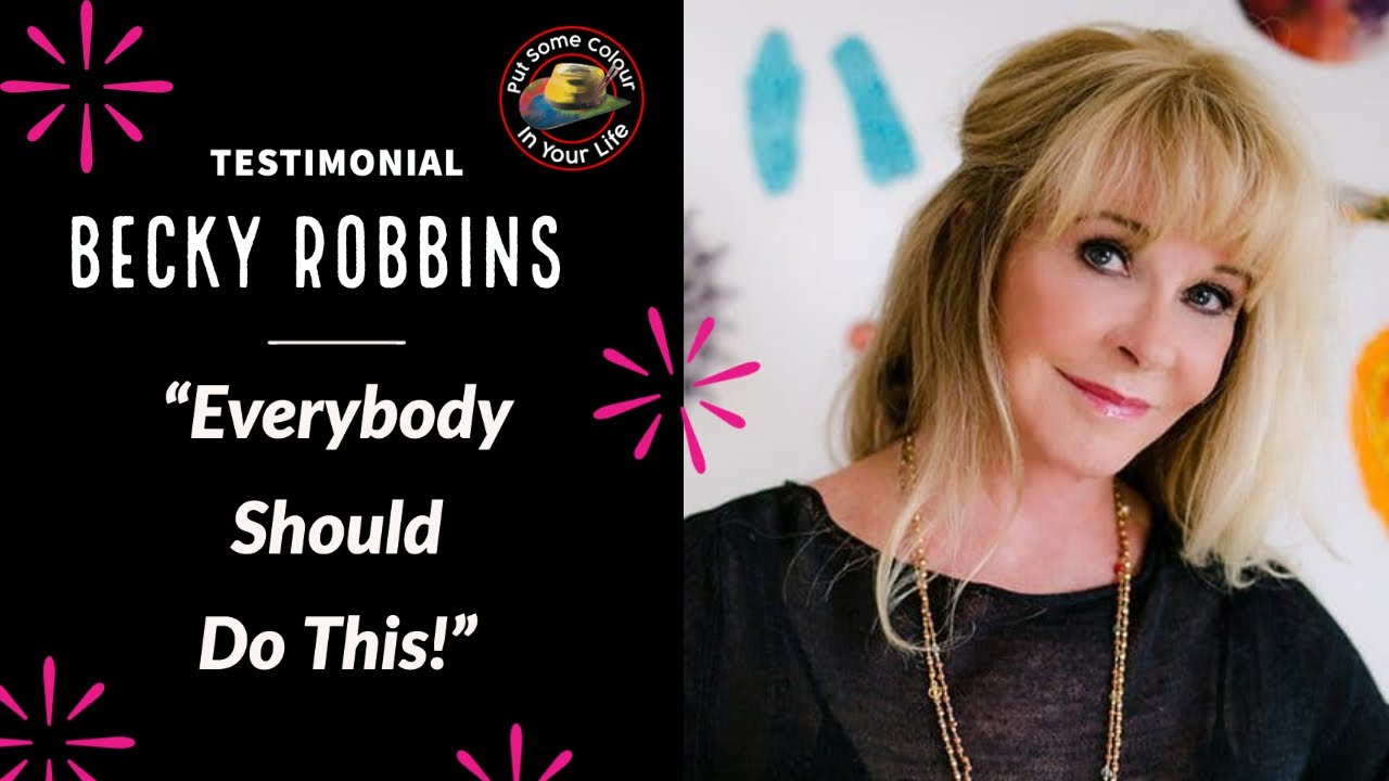 testimonial becky robbins talks about her experience on colour in your life youtube