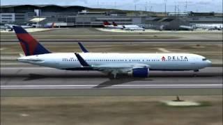 Delta Flight 617 SFO to NRT Part1 (FS2004)
