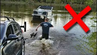How to Back up a Trailer & Launch a Boat BY YOURSELF (EASY WAY)