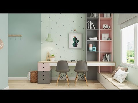 50 plus kids study table area modern designs