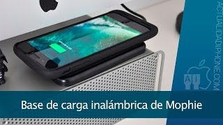 Base de carga inalámbrica para iPhone de Mophie