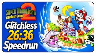 Super Mario Land 2 - Glitchless speedrun in 26:36