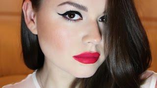 Секси-макияж! Кошачий глаз! Красная помада!/ Sexy makeup! Cat eye! Red lipstick!