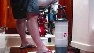 marine oil change with moeller fluid extractor pump