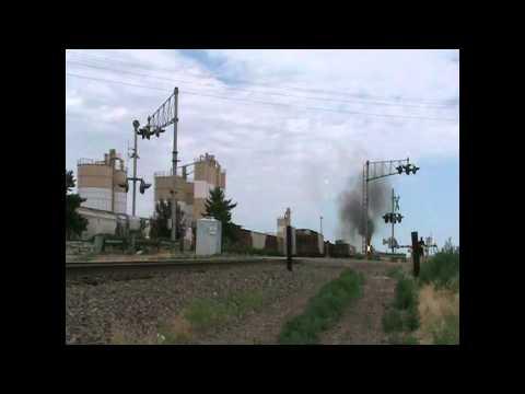 Union Pacific 844 @ Platteville CO.. 60MPH!!!