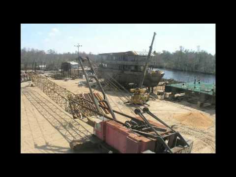 Explorer Construction Time Lapse Video at Freeport Shipbuilding