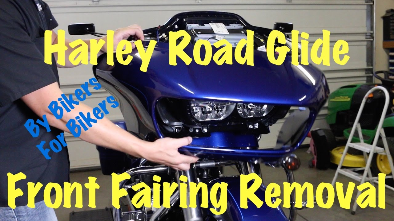 hight resolution of 2015 newer harley road glide front fairing removal install motorcycle biker podcast youtube