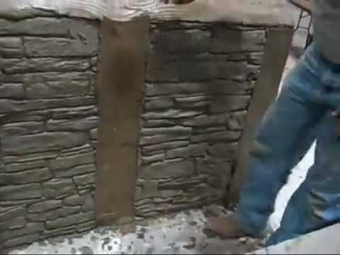 Decorative Concrete Simulated Stone Masonry Youtube