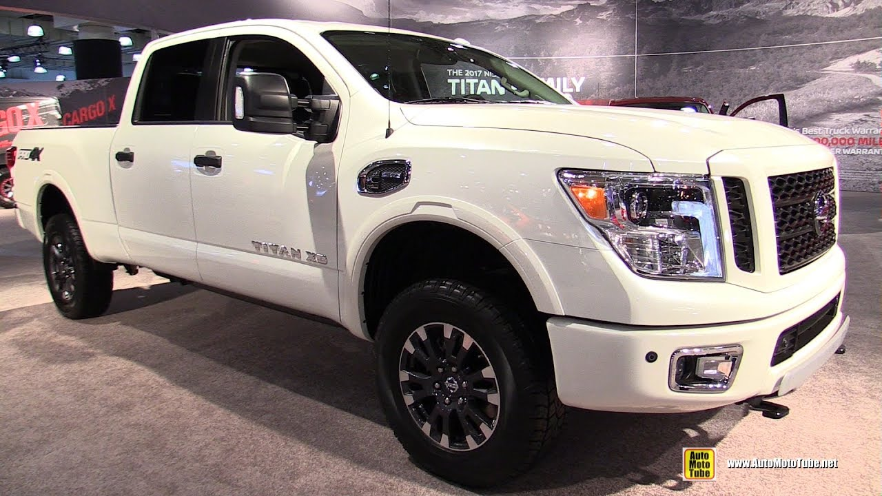 2017 nissan titan xd pro 4x exterior and interior walkaround 2017 ny auto show youtube. Black Bedroom Furniture Sets. Home Design Ideas