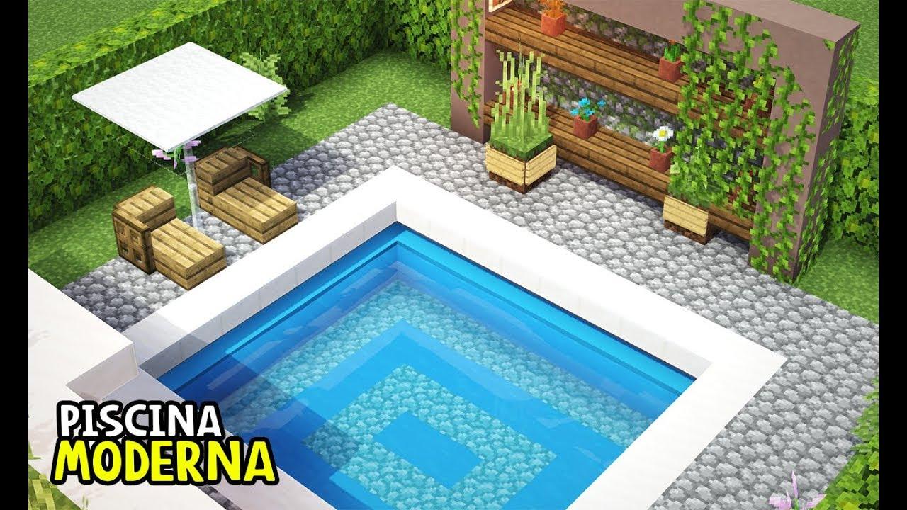 Minecraft piscina moderna construindo em minecraft - Piscinas modernas ...