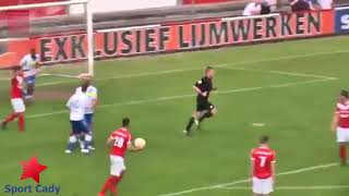 Referee scores a goal in the fourth tier of Dutch football