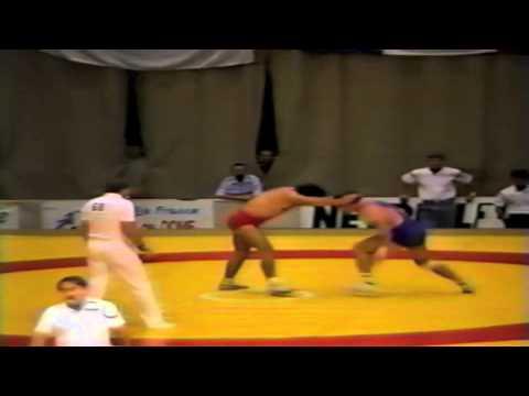 1987 Senior World Championships: 100 kg Ayhan Taskin (TUR) vs. Georgi Jantschev (BUL)