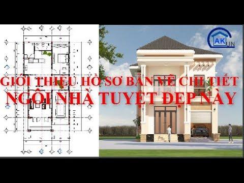 Hồ sơ bản vẽ nhà mái nhật 2 tầng tuyệt đẹp tại Daknong - Nhà đẹp Dakcun