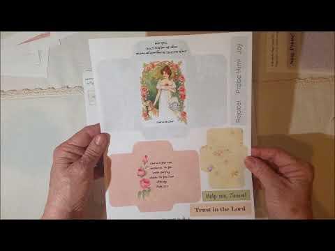 "NEW Vintage Prayer Journal Kit:  ""In The Garden"" PLUS a SALE"