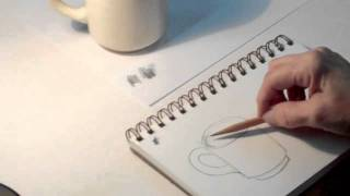 Art Tips 1 - How to Draw a Coffee Cup Step by Step - Art Student Academy