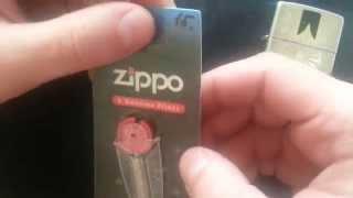 Зажигалка Zippo. Обзор кремней.