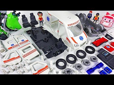Ambulance Car Was Damaged! Rusty Rivets! Assemble The Broken Car With Robocar Poli! #DuDuPopTOY