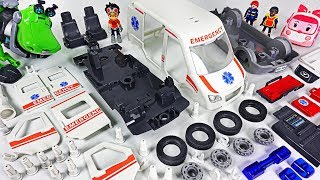 Ambulance Car was Damaged! Rusty Rivets! Assemble the broken car with Robocar Poli! #DuDuPopTOY