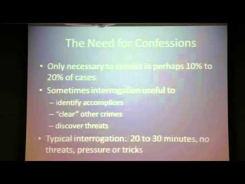 Contemporary Debates in Criminal Justice: Interrogation Practices (Part One: 10/31/12)